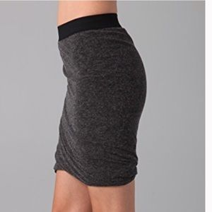 T by Alexander Wang XS Grey Ruched Skirt